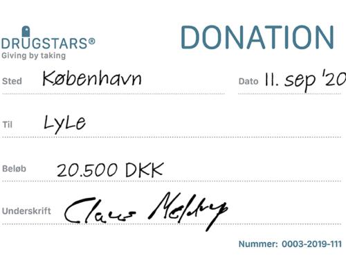 20.500 kr fra DrugStars til LyLe